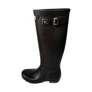 Hunter Dark Grey Matte Tall Rainboots Size 7F